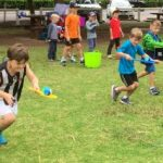 egg and spoon race lil' Olympics