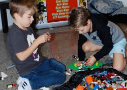 kid builders playing with lego